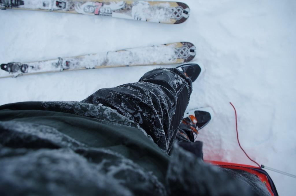 Eisregen konnte die Softshellhose abhalten
