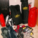 Das Fluggepäck ist nach tagelanger Packorgie fertig