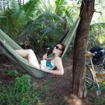 Erste Entspannung am Golf von Thailand nahe Chumphon