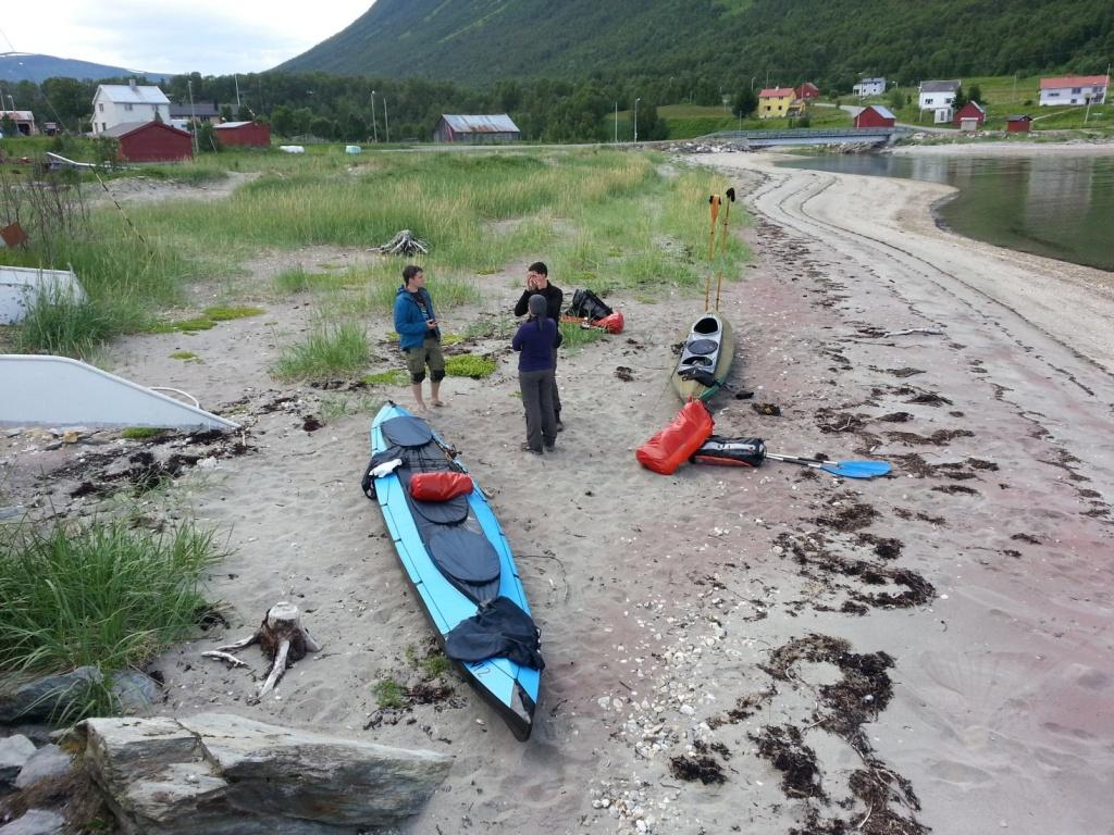 Zwischenstopp im Fischerdorf Oldervik