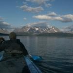 Eine Fjordquerung steht an - Ziel Lyngsalpene