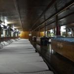 Unter Deck des Nachtbootes wird es eng werden