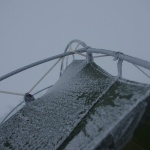 Bei jeder Temperatur bleibt unser treues Zelt intakt