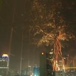 Abschiedsblick aus der Lobby des achthöchsten Hotels der Erde