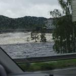 Folgen starker Regenfälle nahe Oslo