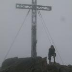 Der 3079m hohe Fundusfeiler liegt im Nebel