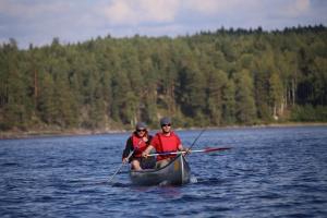 Die beiden Angler der Tour hatten sich schnell gefunden