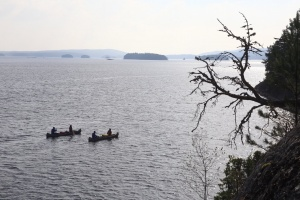 Ein weiterer Biwakplatz wartet auf dieser Insel