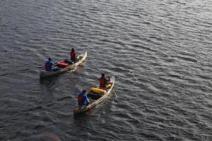 Im Kanadier paddelt es sich entspannt