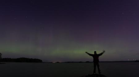 So südlich haben wir pures Glück Polarlichter zu sehen