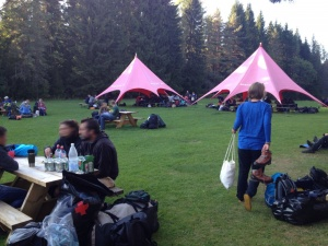 Tourende im Lager von Scandtrack