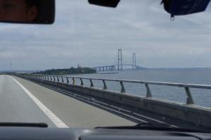 Die Storebæltsbrücke in Dänemark