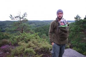 Beine vertreten vor der Weiterfahrt in Schweden
