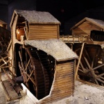 Viele detailierte Funktionsmodelle aus dem Bergbau im Museum
