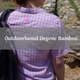 Rückansicht der Damenbluse Deproc Bamboo