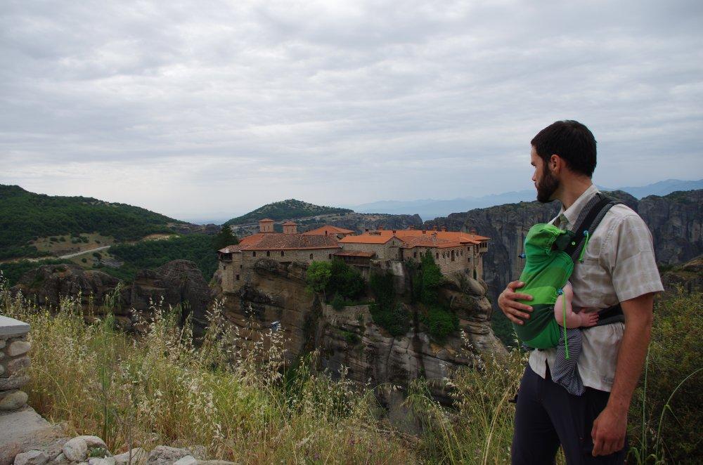 Aussicht auf Felsenkloster von Meteora