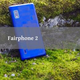 Fairphone2 auf Fels und Moos