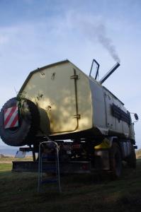 Qualmender Ofen im IFA L60 4x4 Lkw bei Überwinterung in der Türkei